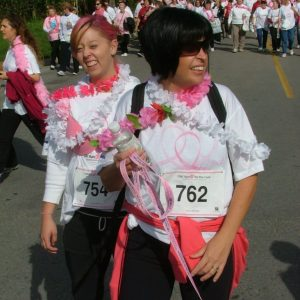 Participants at Run for the Cure 2008