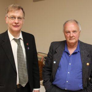 Bob VE3IRB and Glenn pose together after their presentation