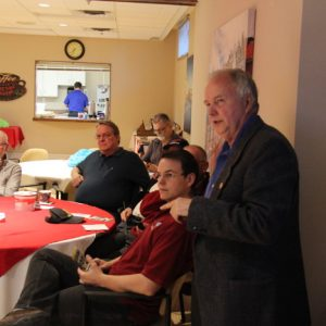 Glenn explains amateur radio during World War II to our club members