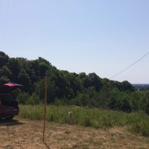 Bob VE3HIX's antenna set up for the weekend