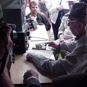 Bill Hardcastle making contact with Bletchley Park