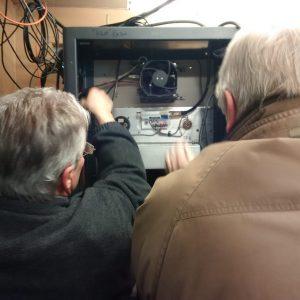 Jeffrey VA3RTV and Bob VE3HIX work together to get everything set up