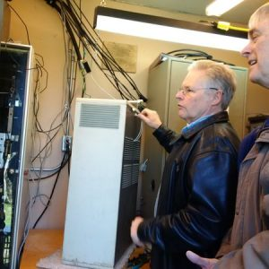 Jeffrey VA3RTV and Bob VE3HIX try to get the repeaters working