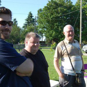 Dave and Glen VE3LIZ at the Summer Kickoff BBQ 2015.