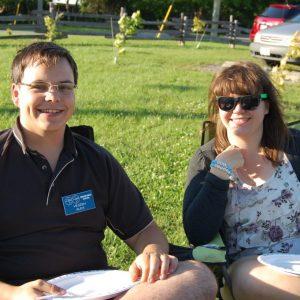 Alex VE3ZSH and Sabrina VA3AXU posing together while enjoying the sun