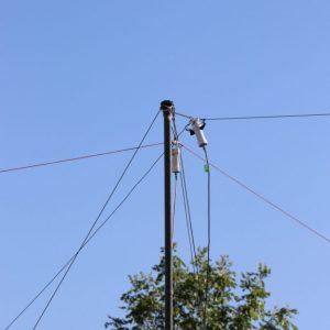 A close up of Clint VA3KDK's antenna at Field Day