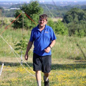 Clint VA3KDK checks the antennas