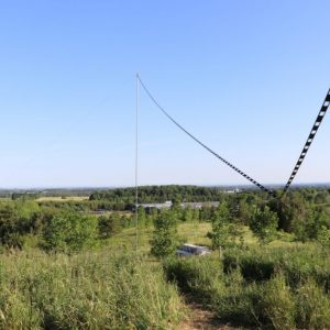Bob VE3HIX's antenna for Field Day. Look at that view!