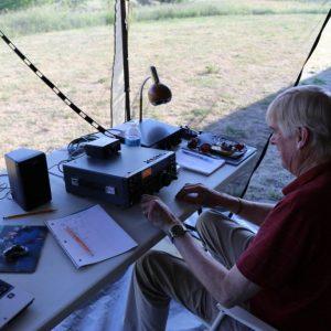 Bob VE3HIX at the Morse code station
