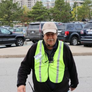 Steve VA3TPS helps vendors into the venue as part of our Parking Crew!