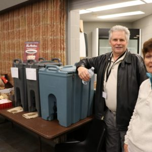 Jeffrey VA3RTV and Jackie VA3BTQ worked together to run the concessions stand