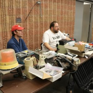 John VA3NW and Jeff VA3DOC had all sorts of things on his table