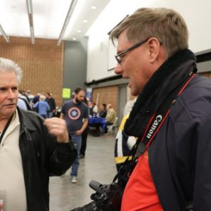 Jeffrey VA3RTV speaks with Ward VE3WGK at Durham Hamfest