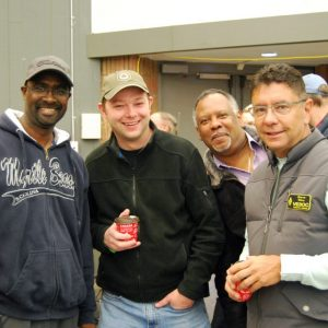 Vince VE3ELB, Jerry VA3CZK,  Lawrence VE3XLD, and Steve VE3OC pose together for a photo