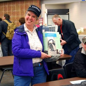 Carole VA3WHU showing off her purchase from this year!