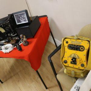 Jeffrey VA3RTV's restored Lancaster radio and parachute radio