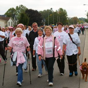 Run for the Cure always has the best colour coordination among participants!