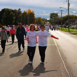 Participants at the Run for the Cure 2010