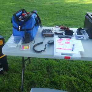 Our net control table was very organized this year!
