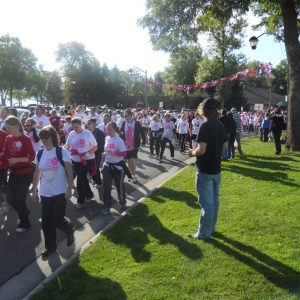 Participants at the Run for the Cure 2012