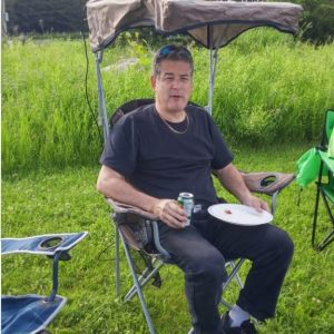 Mike VA3MCX running APRS on his lawn chair!