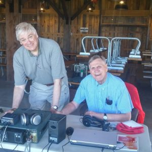 Bob VE3HIX and Ralph VE3CRK setup their CW station for the 2017 ARRL Field Day Contest.