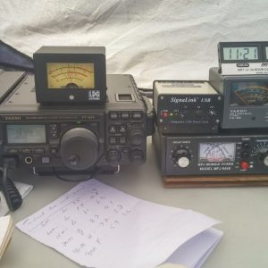 Here we Steve has his 2017 Field Day setup all ready including UTC/Local dual time clock. This year Steve managed 200 digital contacts with this setup.
