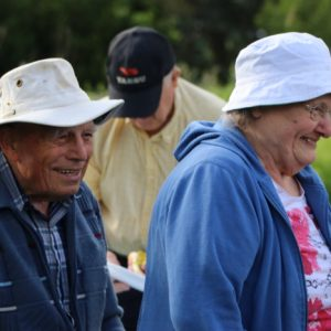 Farny VE3BHQ and his wife Nancy were smiles all around.