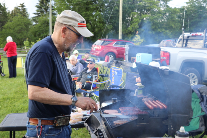 Doug mans the grill at the Summer Kickoff BBQ 2017