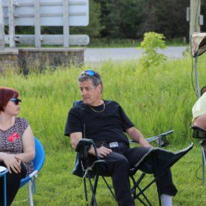 Sabrina VA3AXU and Mike VA3MCX have a chat.