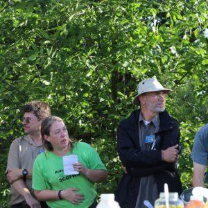 Bob VE3HIX and Clint VA3KDK talk while Martha VA3SBD, Larry VA3FHG and Lee do their thing.