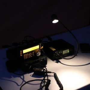 Martha VA3SBD's set up for making those late night contacts!