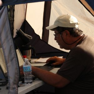 Steve VA3TPS making contacts while working digital