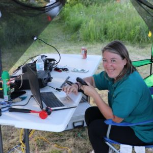 Martha VA3SBD takes a quick break to strike a smile to our photographer