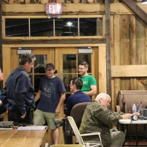Some general public came out and a few of our members were happy to meet with them to answer their questions! Martha VA3SBD, Mike VA3MCX and Alex VE3ZSH all speak to Andre and Nick while Bob VE3HIX works on some CW.
