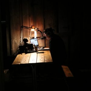 Michel VA3HEM works until the late hours of the night making as many contacts as possible