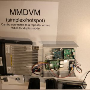 A closeup of Mike VA3MCX's MMDVM which he brought in for a presentation on DMR radio.